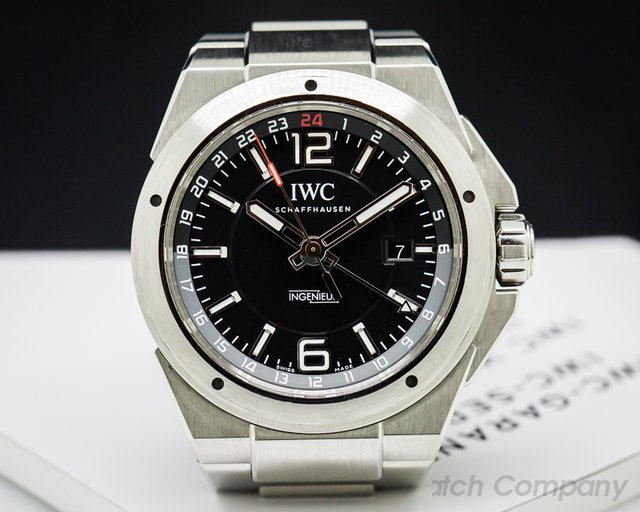 IWC IW324402 Ingenieur Dual Time Black Dial SS