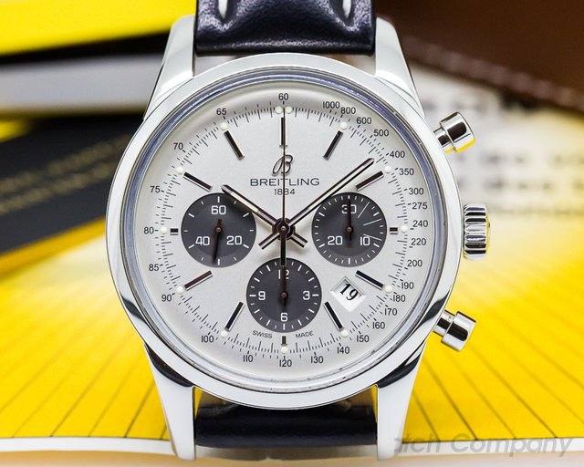 Breitling Transocean Chronograph SS/Strap