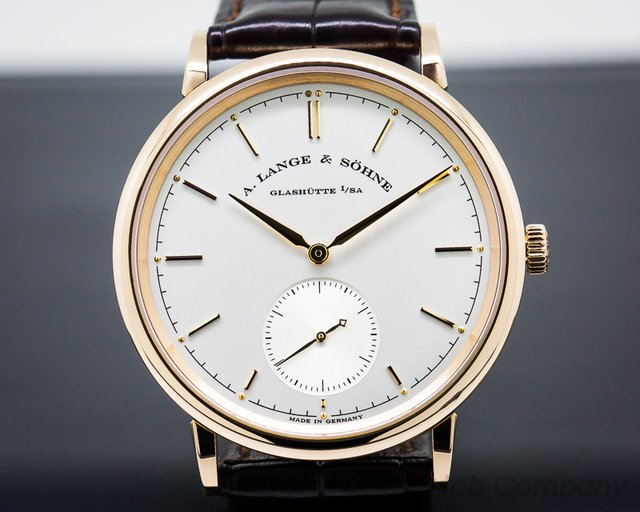 A. Lange and Sohne Saxonia Automatik 18K Rose Gold / Silver Dial