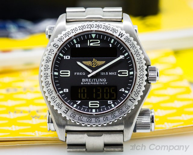 Breitling Emergency Black Dial Titanium FULL SET