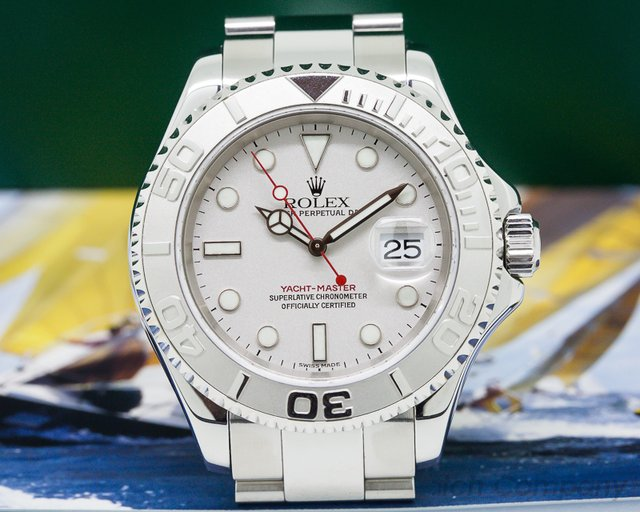 Rolex Yacht Master SS Platinum Bezel 'NEW OLD STOCK'