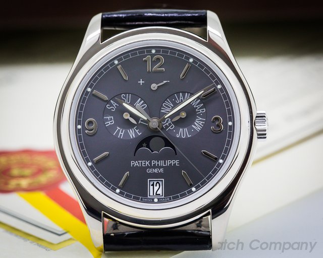 Patek Philippe Annual Calendar Grey Dial White Gold