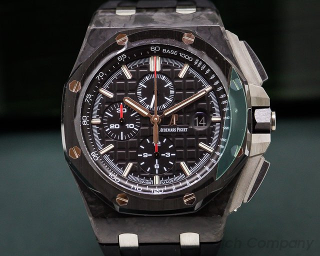 Audemars Piguet 26400AU Royal Oak Offshore Carbon Fiber Ceramic Bezel Titanium / Rubber