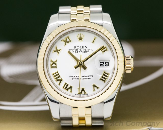 Rolex Lady Datejust White Roman Dial 18K / SS