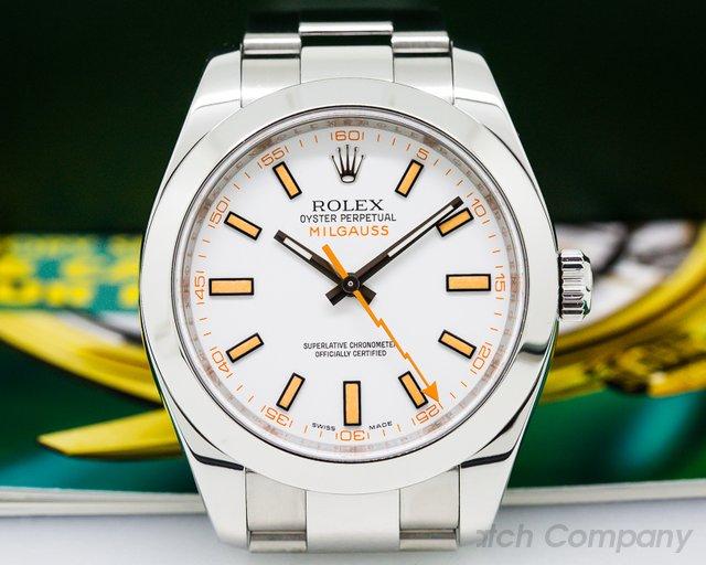 Rolex Milgauss White Dial SS/SS M Series (2007)