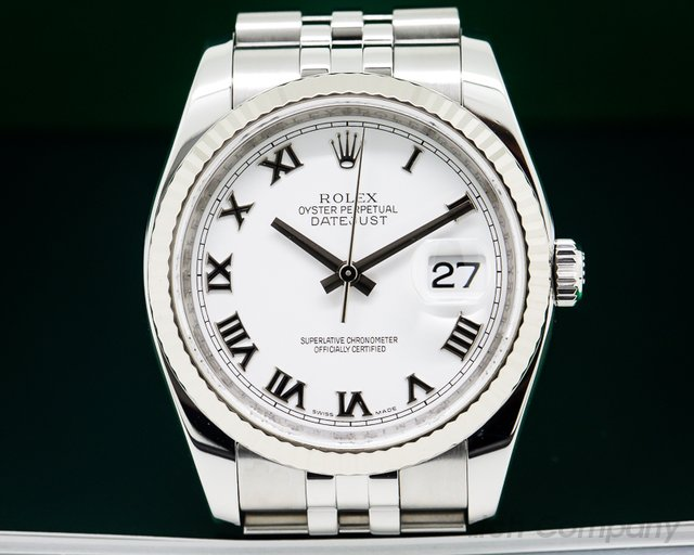 Rolex Datejust SS White Dial