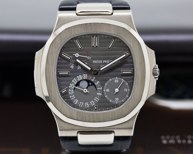 Patek Philippe Nautilus Power Reserve Moonphase 18K White Gold