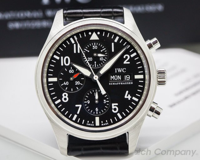 IWC Pilot Chronograph SS / Alligator