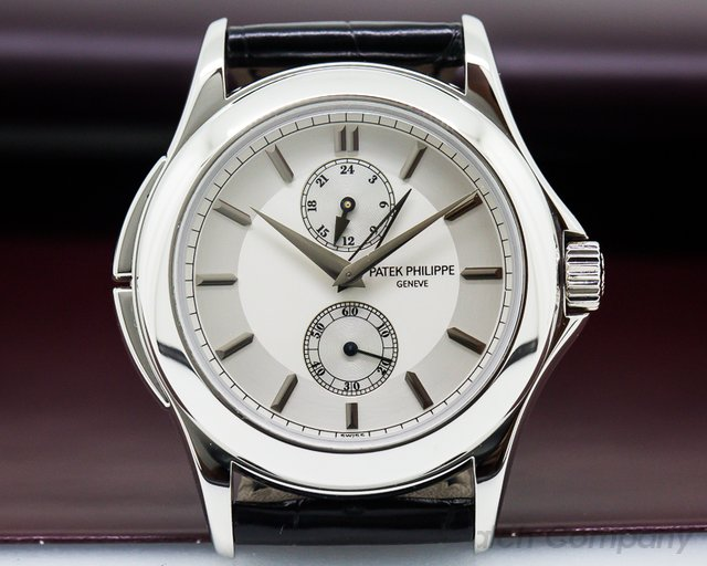 Patek Philippe Travel Time Manual Silver Dial Platinum