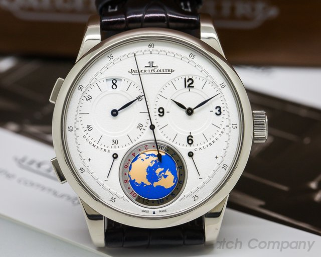 Jaeger LeCoultre Duometre Unique Travel Time 18K White Gold LIMITED