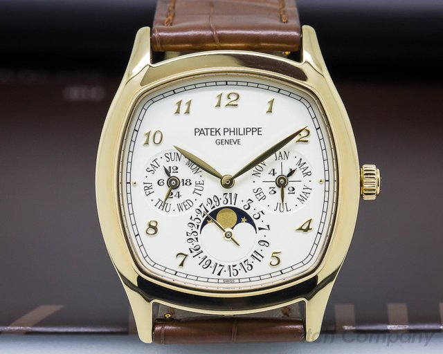 Patek Philippe 5940J Perpetual Calendar 18K Yellow Gold Cushion Case