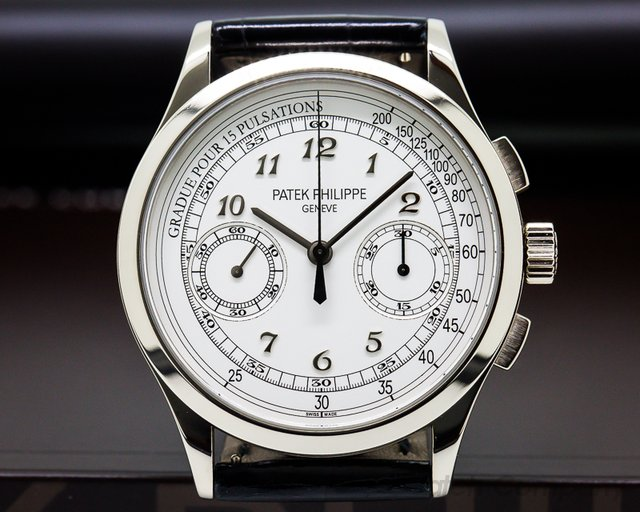 Patek Philippe Chronograph 18K White Gold / Silver Pulsation
