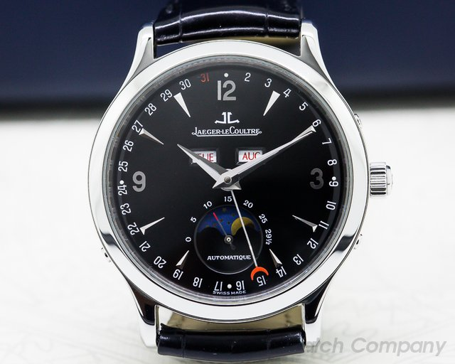 Jaeger LeCoultre Master Moon SS Black Dial