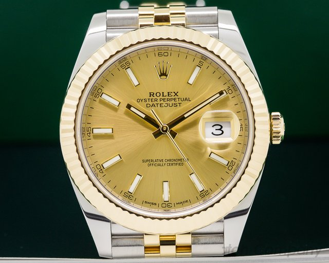 Rolex 126333 Datejust II White Stick Dial 18K / SS