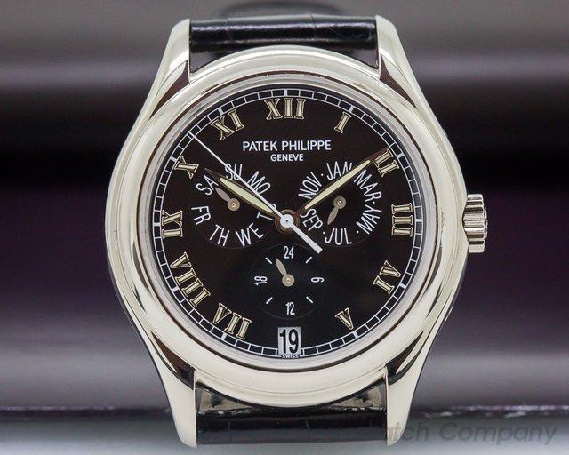Patek Philippe Annual Calendar 18K White Gold Black Dial