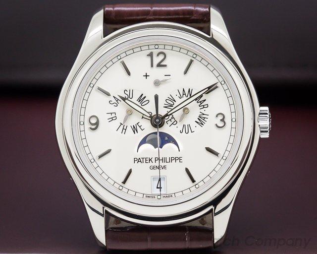 Patek Philippe Annual Calendar 18K White Gold Porcelain Dial