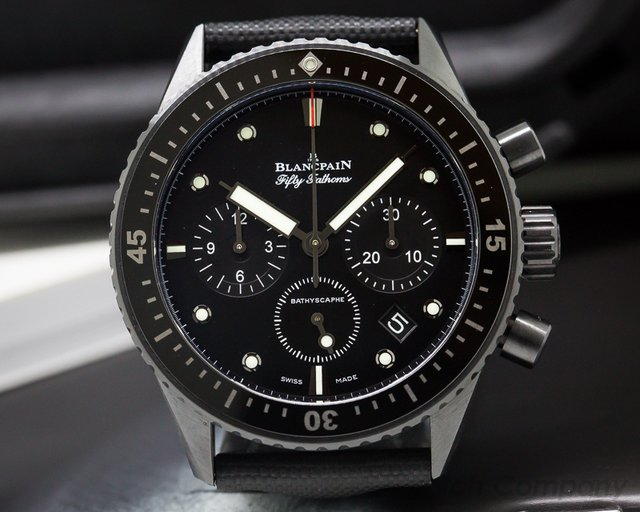 Blancpain Fifty Fathoms Bathyscaphe Cermaic Flyback Chronograph SS