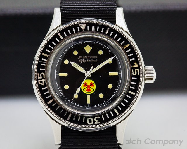 "Blancpain Vintage Fifty Fathoms Aqualung ""BUND"" NO RADIATION Circa 1965 41MM"