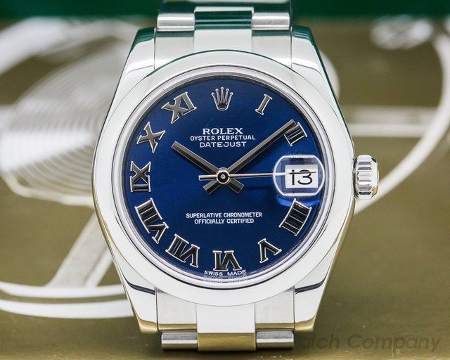Rolex Ladies Rolex Datejust Blue Roman Dial