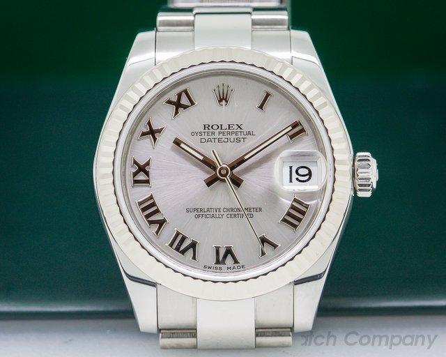 Rolex Datejust Midsize Oyster Rhodium Roman Dial