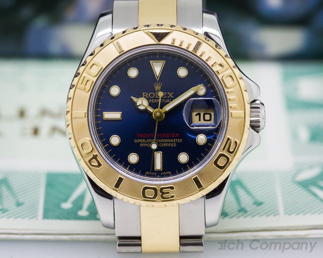 Rolex Yachtmaster Ladies Blue Dial 18K / SS