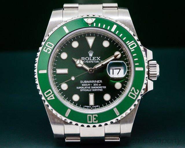 Rolex Submariner Green Ceramic Bezel Green Dial SS