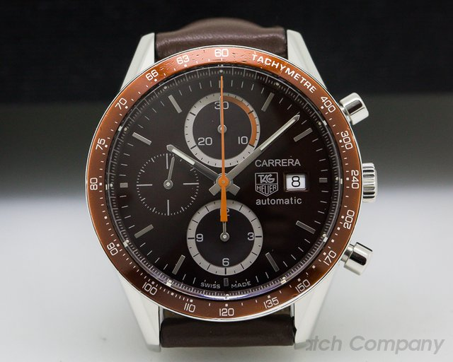 TAG Heuer Carrera Chronograph SS / SS Brown Subrust Dial