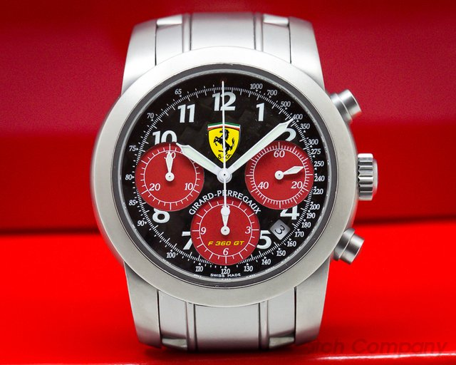Girard Perregaux Ferrari F360 GT Chronograph Titanium Limited / Carbon Fiber