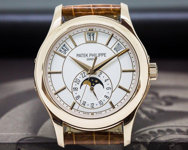 Patek Philippe Annual Calendar Silver Dial 18K Rose Gold