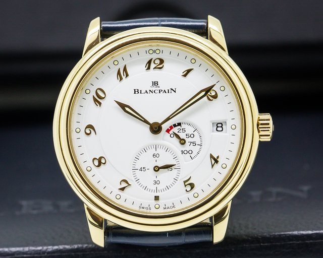 Blancpain Leman Power Reserve 18K Yellow Gold