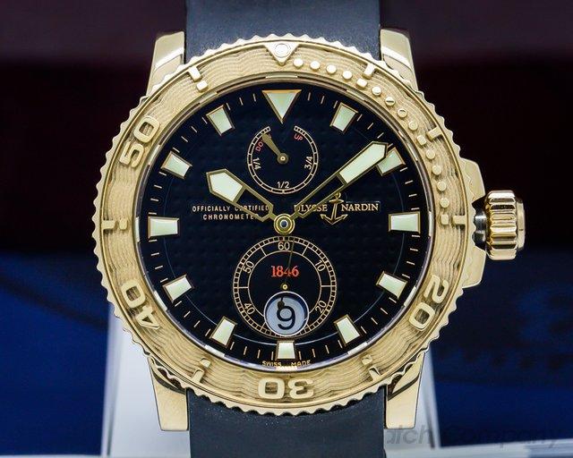 Ulysse Nardin Maxi Marine Diver Black RG / Rubber