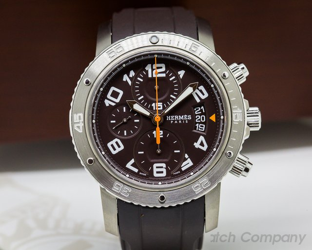Hermes Clipper Mechanical Diver's Chrono 44