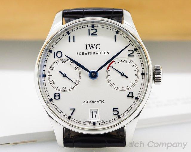 IWC Portuguese 7 Day SS / Blue Numerals