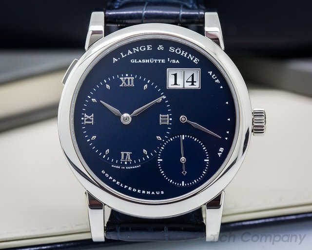 A. Lange and Sohne Lange 1 Blue Dial White Gold