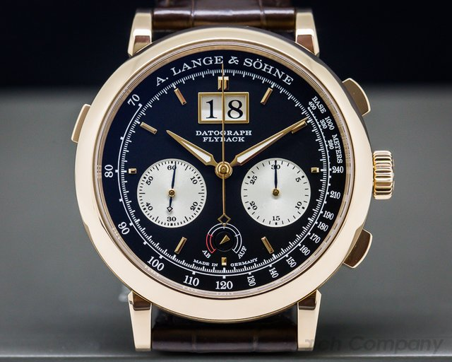 A. Lange and Sohne Datograph Up / Down 18k Rose Gold