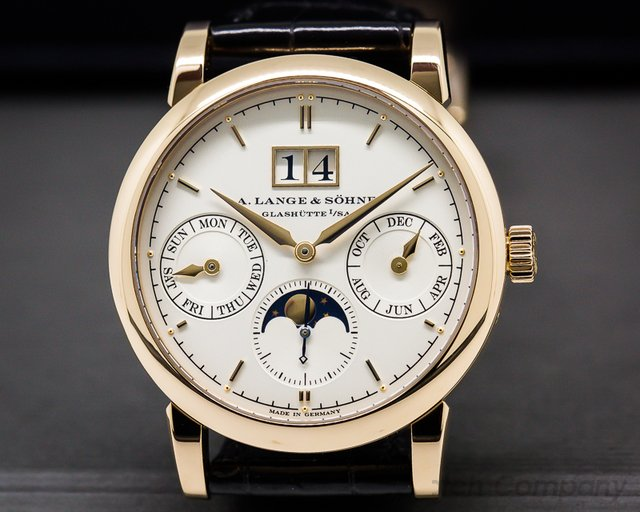 A. Lange and Sohne Saxonia Annual Calendar 18K Rose Gold