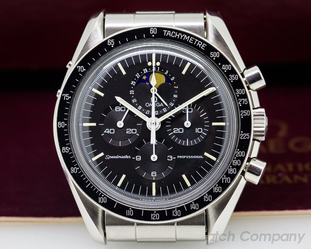 "Omega Speedmaster Professional ""Speedymoon' Moonphase / Date Box and Papers"