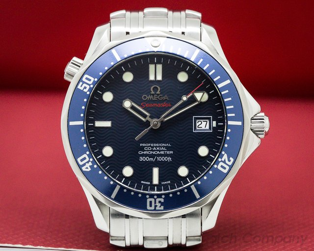 Omega Seamaster Pro Blue Wave Dial Co-Axial Automatic