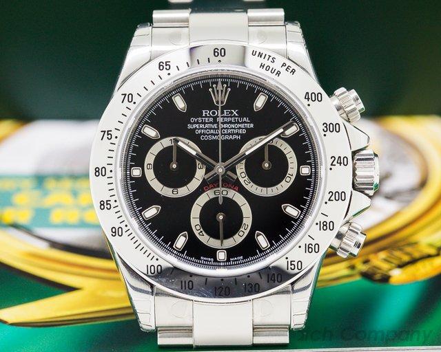 Rolex 116520 Daytona Black Dial SS NEW OLD STOCK / FULL SET