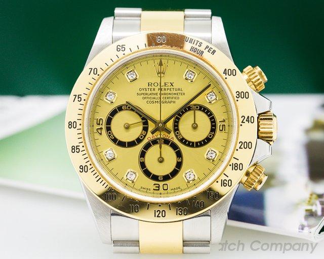 Rolex 16523 Zenith Daytona SS / 18K Champagne Diamond Dial NICE