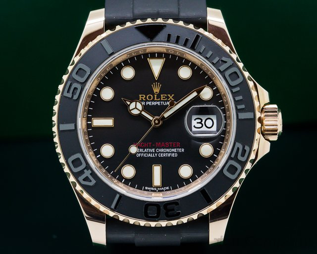Rolex Yacht Master 18K Rose Gold / Rubber
