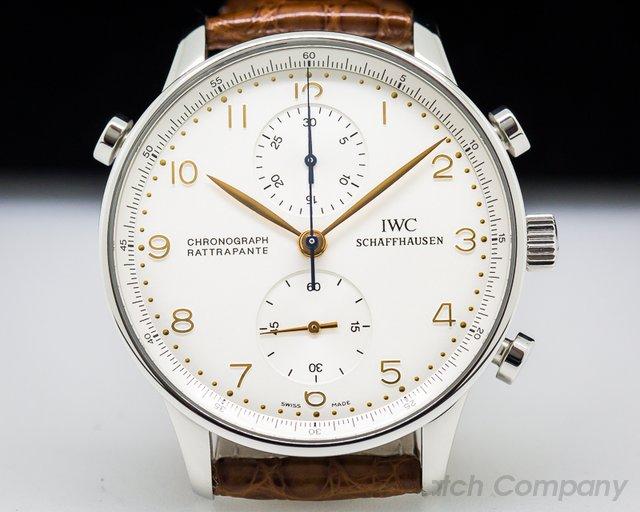 IWC 3712 Portuguese Chronograph Rattrapante SS