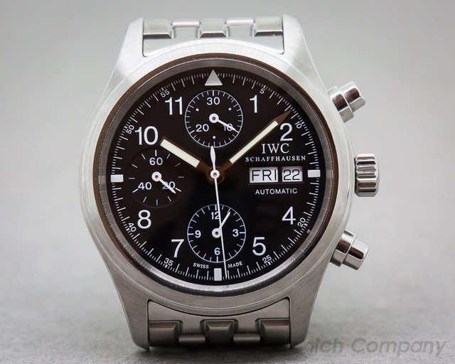 IWC Pilot Chronograph Black Dial SS