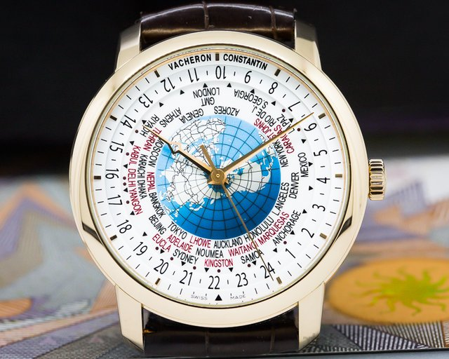 Vacheron Constantin Patrimony Traditionnelle World Time Rose Gold