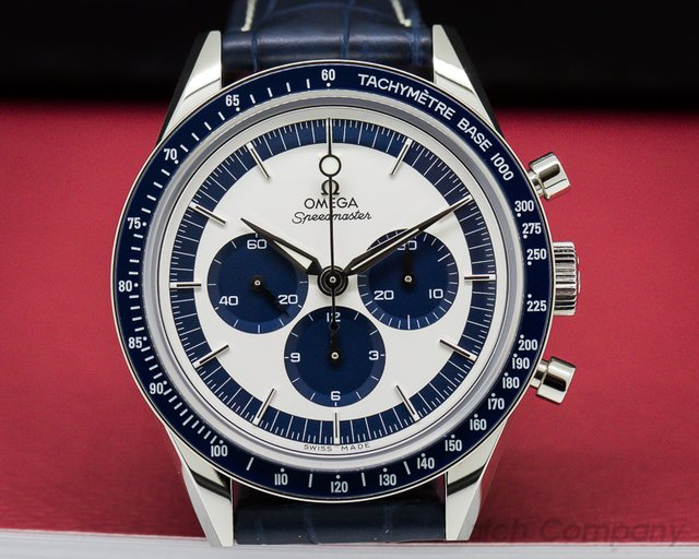Omega Speedmaster CK 2998 Silver / Blue Dial SS LIMITED