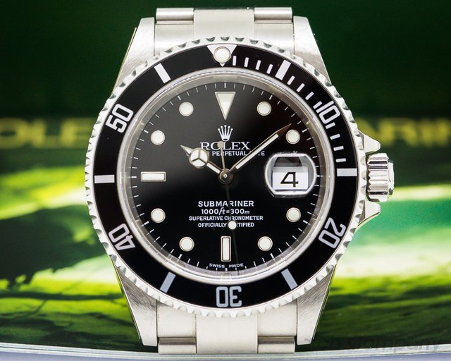 Rolex Submariner Date SS NEW OLD STOCK Complete Collector Quality