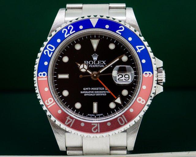 Rolex 16710 GMT Master II SS Red / Blue Pepsi Bezel UNPOLISHED