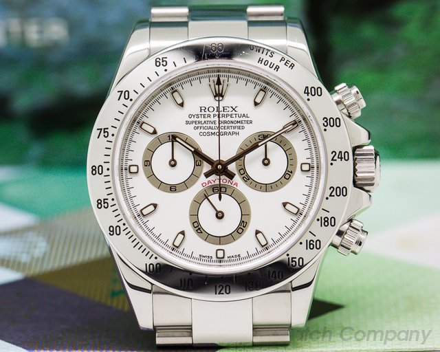 "Rolex 116520 Daytona White Dial  Collector Quality ""Full Set"" UNPOLISHED"