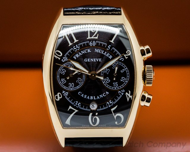 Franck Muller 8880 CC Casablanca 18k Rose Gold Chronograph / Black Dial
