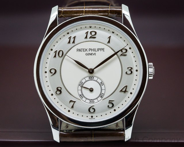 Patek Philippe 5196P Calatrava Platinum Silver Dial Arabic Numerals